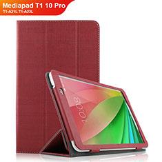 Schutzhülle Stand Tasche Stoff für Huawei Mediapad T1 10 Pro T1-A21L T1-A23L Rot