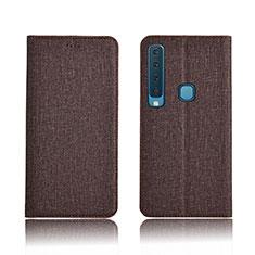 Schutzhülle Stand Tasche Stoff für Samsung Galaxy A9s Braun