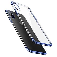 Schutzhülle Ultra Dünn Handyhülle Hülle Durchsichtig Transparent für Apple iPhone X Blau