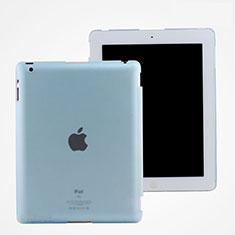 Schutzhülle Ultra Dünn Handyhülle Hülle Durchsichtig Transparent Matt für Apple iPad 2 Hellblau