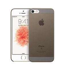 Schutzhülle Ultra Dünn Handyhülle Hülle Durchsichtig Transparent Matt für Apple iPhone SE Grau