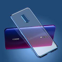 Schutzhülle Ultra Dünn Handyhülle Hülle Durchsichtig Transparent Tasche für Oppo Realme X Blau