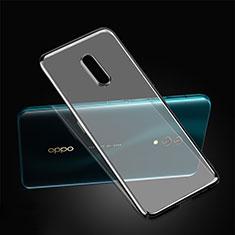 Schutzhülle Ultra Dünn Handyhülle Hülle Durchsichtig Transparent Tasche für Oppo Realme X Schwarz