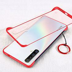 Schutzhülle Ultra Dünn Handyhülle Hülle Durchsichtig Transparent Tasche für Realme X50m 5G Rot