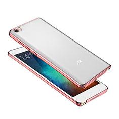 Schutzhülle Ultra Dünn Handyhülle Hülle Durchsichtig Transparent Tasche für Xiaomi Mi Note Rosegold