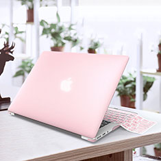 Schutzhülle Ultra Dünn Hülle Durchsichtig Transparent Matt für Apple MacBook Air 13.3 zoll (2018) Rosa
