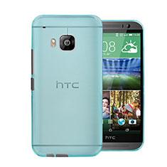 Schutzhülle Ultra Dünn Hülle Durchsichtig Transparent Matt für HTC One M9 Hellblau