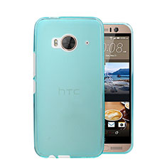 Schutzhülle Ultra Dünn Hülle Durchsichtig Transparent Matt für HTC One Me Hellblau