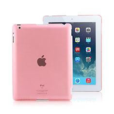 Schutzhülle Ultra Dünn Tasche Durchsichtig Transparent Matt für Apple iPad 4 Rosa