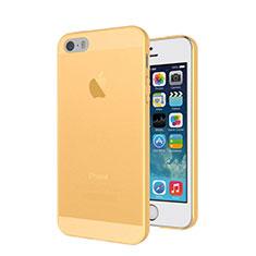 Schutzhülle Ultra Dünn Tasche Durchsichtig Transparent Matt für Apple iPhone 5S Gold