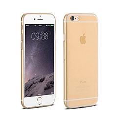 Schutzhülle Ultra Dünn Tasche Durchsichtig Transparent Matt für Apple iPhone 6 Plus Gold