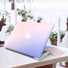 Schutzhülle Ultra Dünn Tasche Durchsichtig Transparent Matt für Apple MacBook Air 13.3 zoll (2018) Blau