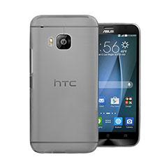 Schutzhülle Ultra Dünn Tasche Durchsichtig Transparent Matt für HTC One M9 Grau