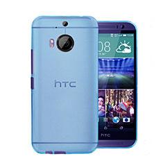 Schutzhülle Ultra Dünn Tasche Durchsichtig Transparent Matt für HTC One M9 Plus Blau