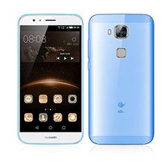Schutzhülle Ultra Dünn Tasche Durchsichtig Transparent Matt für Huawei G7 Plus Blau