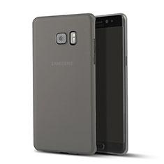 Schutzhülle Ultra Dünn Tasche Durchsichtig Transparent Matt für Samsung Galaxy Note 7 Schwarz