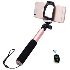 Selfie Stick Stange Bluetooth Teleskop Universal S13 für Google Pixel 3 Rosegold