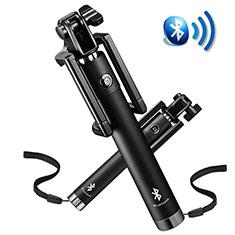Selfie Stick Stange Bluetooth Teleskop Universal S14 für Google Pixel 3 Schwarz