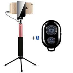 Selfie Stick Stange Bluetooth Teleskop Universal S15 für Nokia 8110 2018 Gold