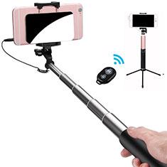 Selfie Stick Stange Bluetooth Teleskop Universal S15 für Google Pixel 3 Schwarz