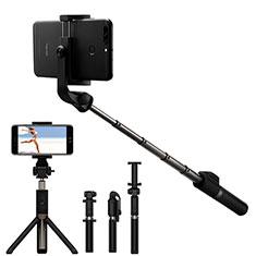 Selfie Stick Stange Bluetooth Teleskop Universal S23 für Sony Xperia XA2 Schwarz