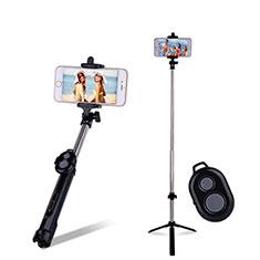 Selfie Stick Stange Bluetooth Teleskop Universal S24 für Sony Xperia 1 Schwarz