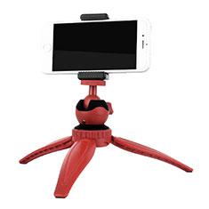 Selfie Stick Stange Stativ Bluetooth Teleskop Universal T09 für Samsung Galaxy S21 Plus 5G Rot