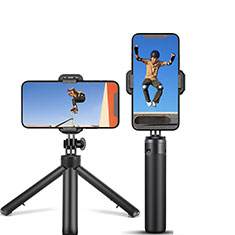 Selfie Stick Stange Stativ Bluetooth Teleskop Universal T12 für Sony Xperia 1 Schwarz