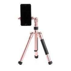 Selfie Stick Stange Stativ Bluetooth Teleskop Universal T15 für Samsung Galaxy S21 Plus 5G Rosegold