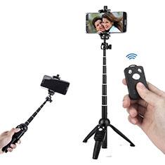 Selfie Stick Stange Stativ Bluetooth Teleskop Universal T24 für Huawei Nova 8 SE 5G Schwarz