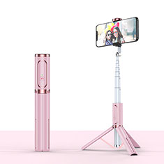 Selfie Stick Stange Stativ Bluetooth Teleskop Universal T26 für Samsung Galaxy S21 Plus 5G Rosegold