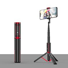 Selfie Stick Stange Stativ Bluetooth Teleskop Universal T26 Rot und Schwarz