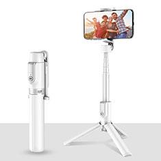 Selfie Stick Stange Stativ Bluetooth Teleskop Universal T28 Weiß
