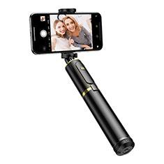 Selfie Stick Stange Stativ Bluetooth Teleskop Universal T34 Gold und Schwarz