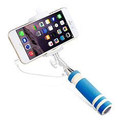 Selfie Stick Stange Verdrahtet Teleskop Universal S01 für Nokia 8110 2018 Hellblau