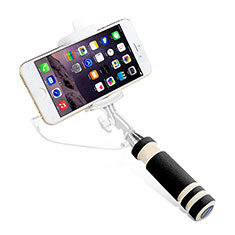 Selfie Stick Stange Verdrahtet Teleskop Universal S01 für Nokia 8110 2018 Schwarz