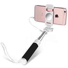 Selfie Stick Stange Verdrahtet Teleskop Universal S02 für Nokia 8110 2018 Schwarz