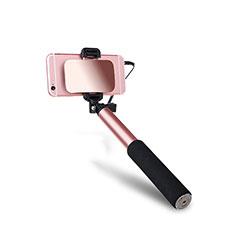 Selfie Stick Stange Verdrahtet Teleskop Universal S03 für Google Pixel 3 Rosegold