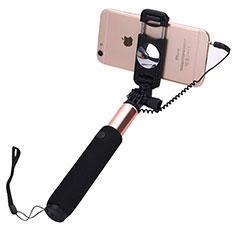 Selfie Stick Stange Verdrahtet Teleskop Universal S04 für Xiaomi Mi 9 Pro Rosegold