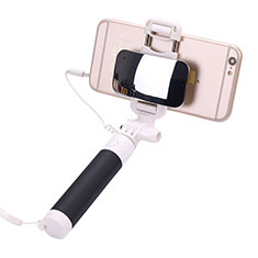 Selfie Stick Stange Verdrahtet Teleskop Universal S04 für Nokia 8110 2018 Schwarz