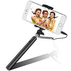 Selfie Stick Stange Verdrahtet Teleskop Universal S06 für Google Pixel 3 Schwarz