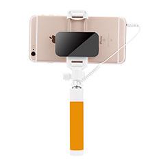 Selfie Stick Stange Verdrahtet Teleskop Universal S07 für Google Pixel 3 Gelb