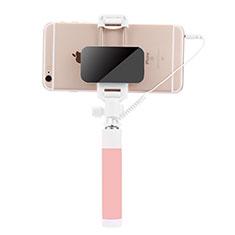 Selfie Stick Stange Verdrahtet Teleskop Universal S07 für Google Pixel 3 Rosa