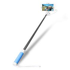 Selfie Stick Stange Verdrahtet Teleskop Universal S10 für Nokia 8110 2018 Hellblau