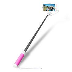 Selfie Stick Stange Verdrahtet Teleskop Universal S10 für Google Pixel 3 Rosa