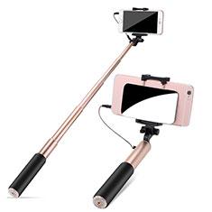 Selfie Stick Stange Verdrahtet Teleskop Universal S11 für Nokia 8110 2018 Gold