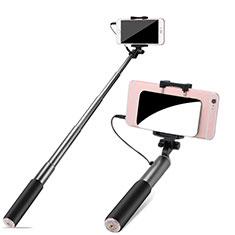 Selfie Stick Stange Verdrahtet Teleskop Universal S11 Grau