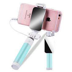 Selfie Stick Stange Verdrahtet Teleskop Universal S12 für Nokia 8110 2018 Grün