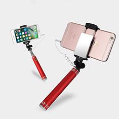 Selfie Stick Stange Verdrahtet Teleskop Universal S20 für Google Pixel 3 Rot