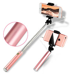 Selfie Stick Stange Verdrahtet Teleskop Universal S22 für Google Pixel 3 Rosegold